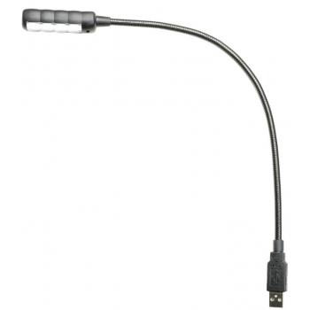 Adam Hall SLED 1 ULTRA USB C Lámpara flexo USB con 4 LED COB y selección de color