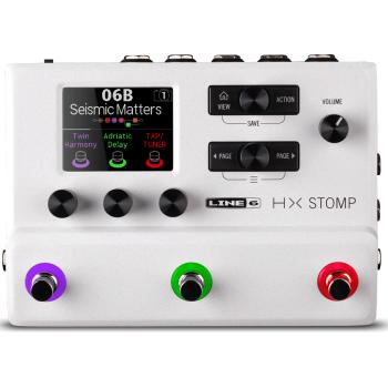 LINE 6 HX Stomp White Edición Limitada Pedalera Multi Efectos Para Guitarras y Bajos