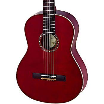 Ortega R121LWR Guitarra Clásica para Zurdo Family Wine Red