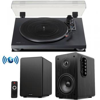 Equipo HiFi TEAC TN-180 BT Giradiscos Bluetooth + Audibax Beta 1BT Altavoces Activos Bluetooth