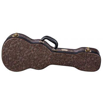 Luna Guitars Hard Case Tooled Leather Tenor. Estuche para Ukelele