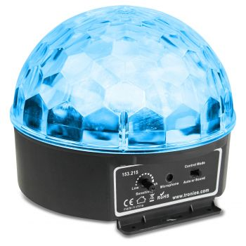 BEAMZ 153215 Mini Star Bola Sound 6x 3W RGBAW LEDs