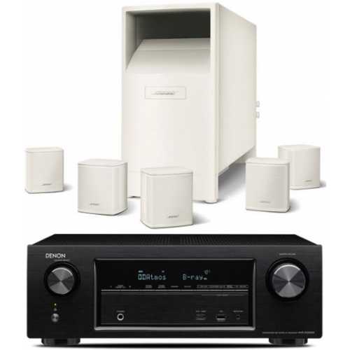 DENON AVR-X1200-AM6 Blanco Conjunto  Home Cinema