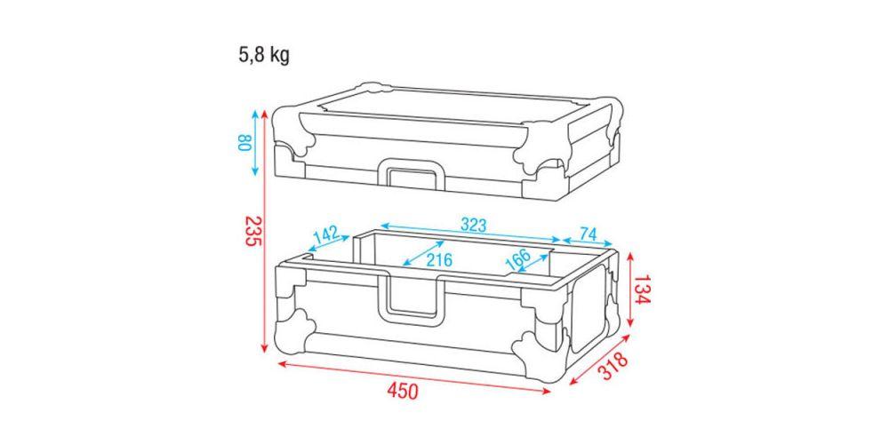 Dap Audio Case for Core CDMP-750 D7468