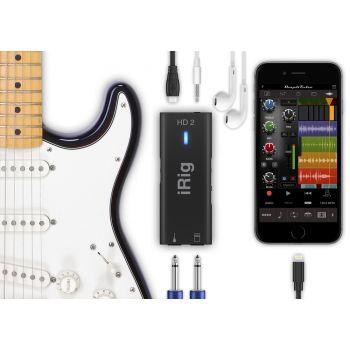 Ik Multimedia IRIG HD 2 Interfaz para Guitarra. Grabación Audio en alta calidad 24bits / 96kHz