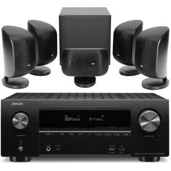 DENON AVR-X2500+BW MT50 Black Conjunto Home Cinema