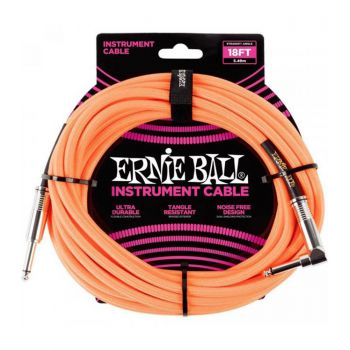 Ernie Ball 6084 Cable Instrumento Jack a Jack 4,57 Mt  Naranja