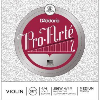 D´addario J56W Pro Arte 4/4 M Cuerdas para violín, tensión media