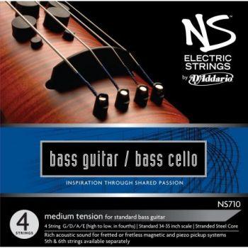 D´addario NS170 Juego de cuerdas para contrabajo eléctrico