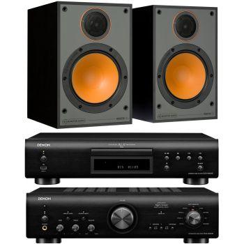 Denon PMA-800AE Black+DCD-800+Monitor Audio Monitor 100 Black conjunto sonido