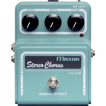 Maxon CS-550 Stereo Chorus Pro Pedal Efectos Guitarra