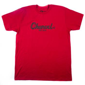 Charvel T-Shirt Logo para Hombre Red Talla M