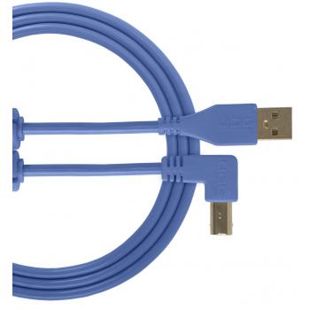 Udg U95004LB Ultimate Cable USB 2.0 A-B Azul en Angulo 1M