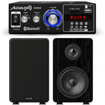 Equipo HiFi Multimedia Bluetooth Audibax 40+40W + Altavoces Estantería Signature S1E