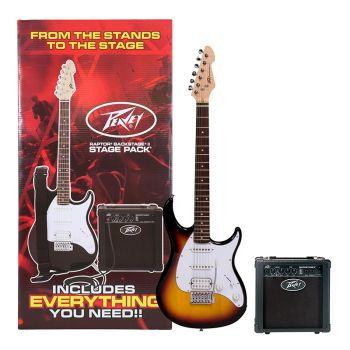 Peavey Raptor Plus Stage Pack Sunburst Guitarra Eléctrica Pack Completo