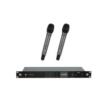 PSSO Set WISE TWO Micrófonos de Condensador Inalámbricos de Mano 638-668MHz