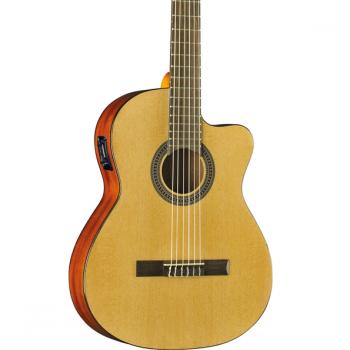 Eko VIBRA 150 Natural Cutaway EQ Guitarra Clasica