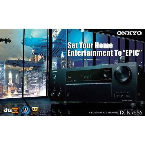 onkyo txnr656 black receptor home cinema