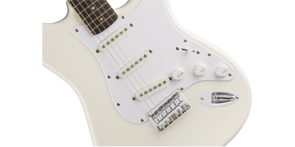 fender squier bullet stratocaster hard tail rosewood fingerboard arctic white cuerpo