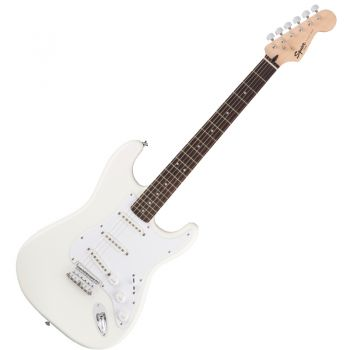 Fender Squier Bullet Stratocaster Hard Tail Rosewood Fingerboard Arctic White
