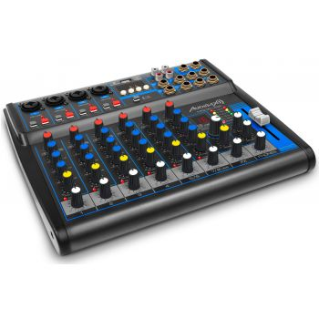 Audibax MG08 USB, Mesa Mezclas 8 canales con Bluetooth, MP3 , USB Rec y EFECTOS