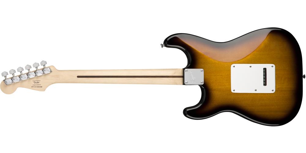 fender stratocaster pack sss brown sunburst guitarra back