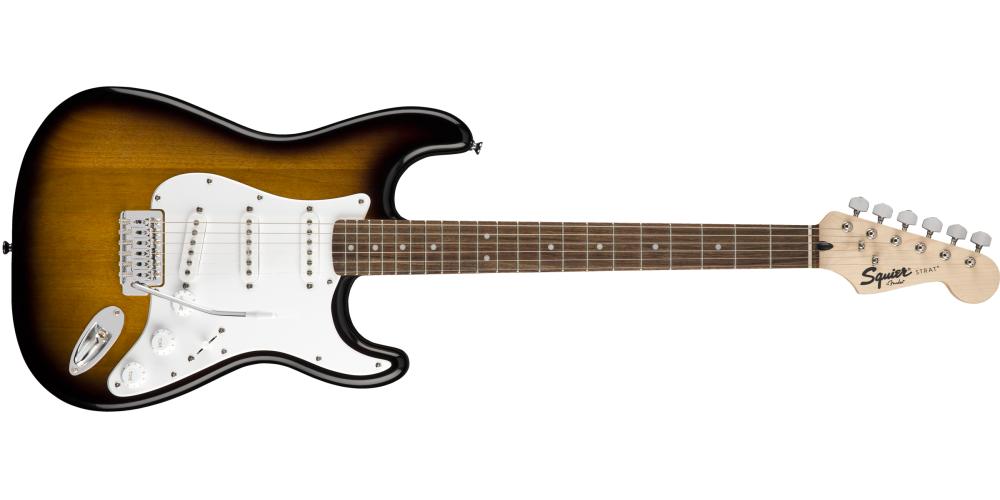 fender stratocaster pack sss brown sunburst guitarra
