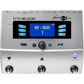 TC Helicon Play Electric Pedal de Efectos para Voz y Guitarra Eléctrica