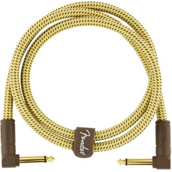 Fender Deluxe Cable Jack Acodado a Jack Acodado 90 cm Tweed