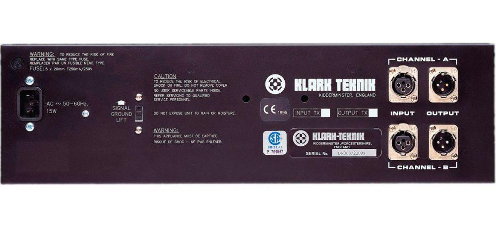 KLARK TEKNIK DN360 eq conexiones
