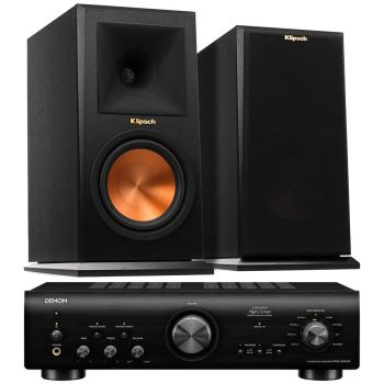 Denon PMA-800AE Black+Klipsch RP-160M Ebony Pareja Conjunto Audio