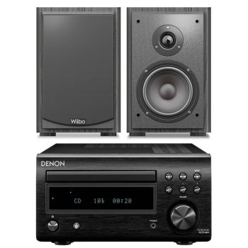 DENON RCDM-41 Negra + Wiibo Karino 400 Conjunto audio