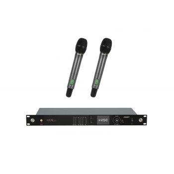 PSSO Set WISE TWO Micrófonos de Condensador Inalámbricos de Mano 823-832 863-865MHz