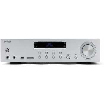 AIWA AMU-120BT SR Amplificador HiFi Bluetooth Silver 60W + 60W RMS. USB/SD MP3. Mic In