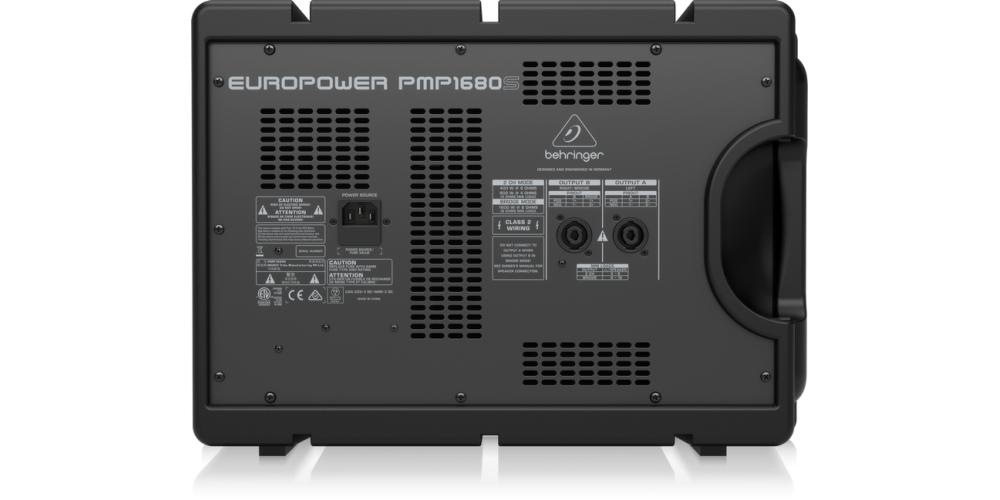 behringer PMP1680S mezclador conexiones