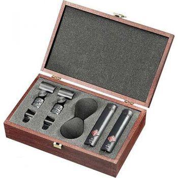 NEUMANN KM183 Stereo Set MT, Microfono Omnidireccional,Negro
