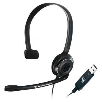 SENNHEISER PC-7 USB Auriculares Pc USB con Micrófono Teletrabajo Skype, VozIP