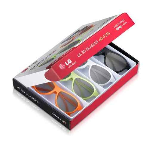 4 Gafas 3D LG Party Pack AG-F315