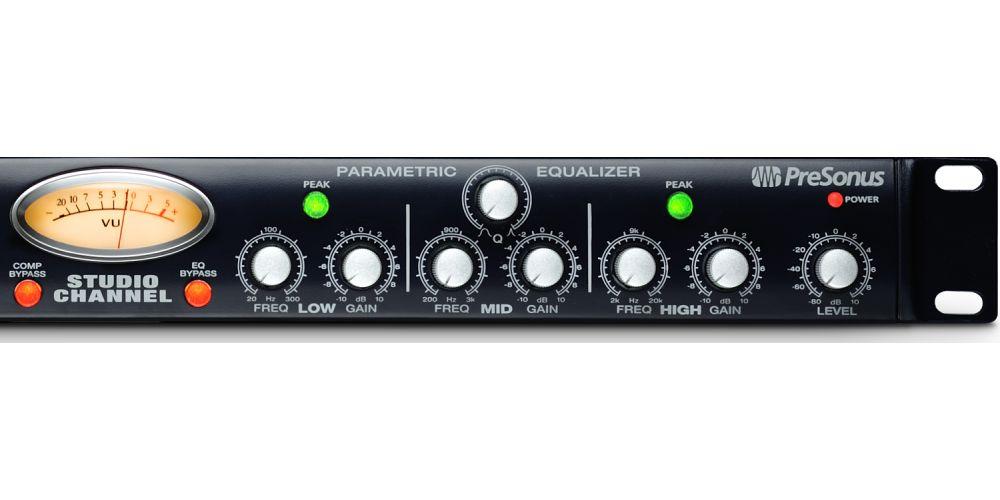 presonus studio channel preamplificador valvulas compresor rack