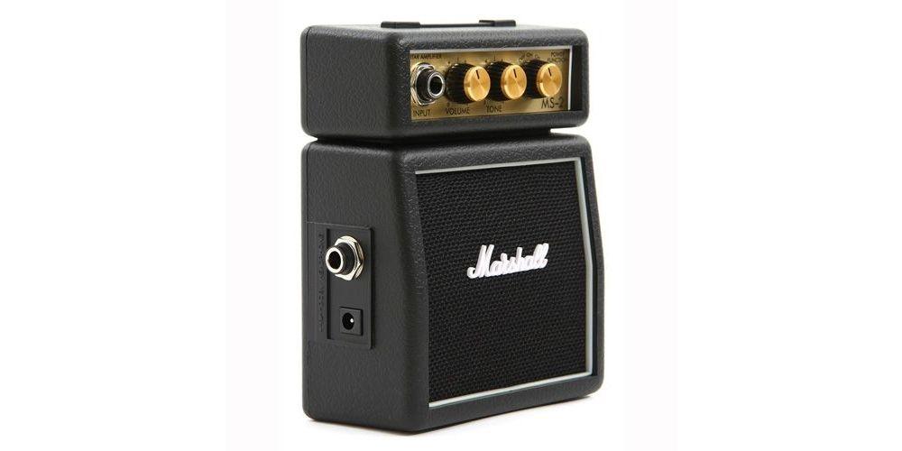MARSHALL MS-2 Amplificador Guitarra Mini 2W, Negro, MMAMS2
