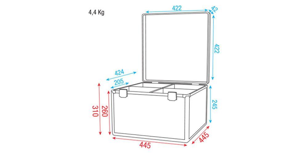 dap audio case 4 par56 dimensiones