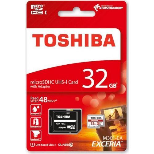 TOSHIBA Micro SD 32Gb Clase 10 + Adaptador SD THN-M301R0320EA