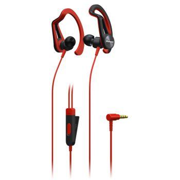 PIONEER SE-E5R Rojo Auricular Tipo Clip  SPORT