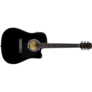 Fender Squier SA-105CE Dreadnought Cutaway Black