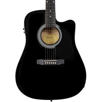 Fender Squier SA-105CE Black Guitarra Electro Acústica