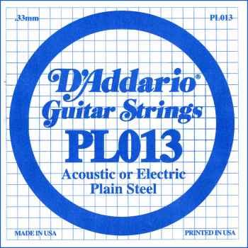 D´addario PL013 Cuerda suelta para guitarra electrica