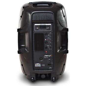2 x Audibax VEGAS 15 Altavoz PRO con efectos LED + Soportes Altavoz Pareja y Bolsa