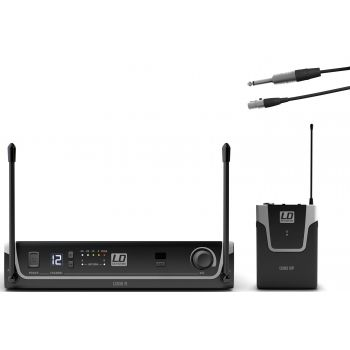LD Systems U305 BPG Sistema inalámbrico con Petaca y Cable de Guitarra