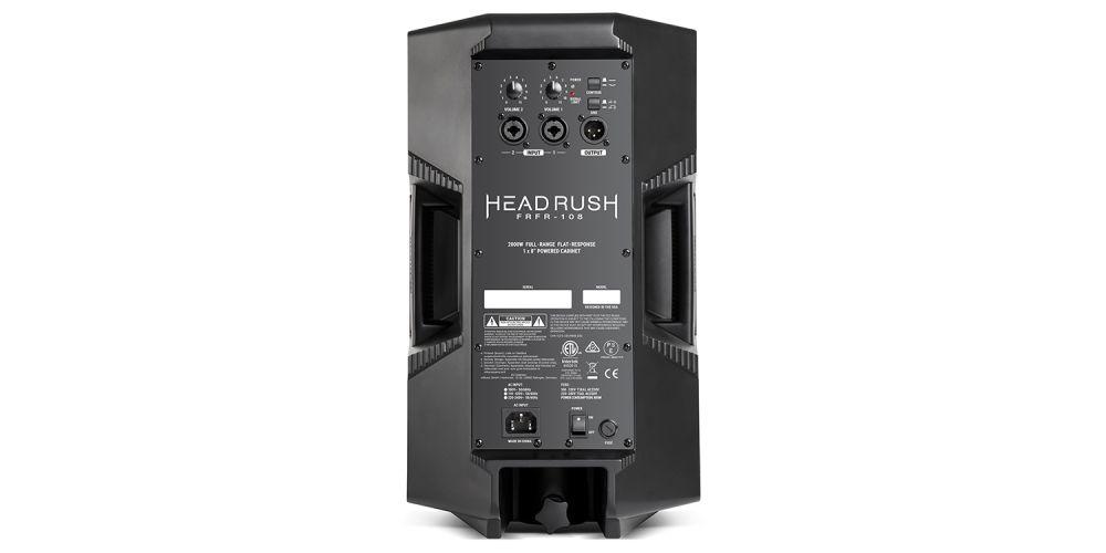 Headrush FRFR 108 altavoz conexiones