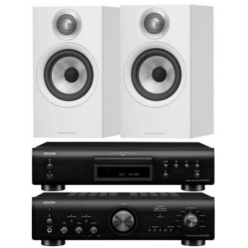 Denon PMA800 AE Black+DCD800Black+B&W 606 White Conjunto Sonido